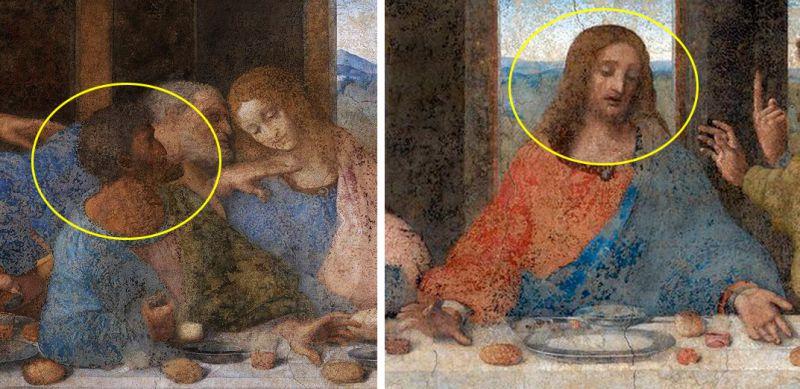 Образы Иисуса и Иуды были нарисованы с одного человека